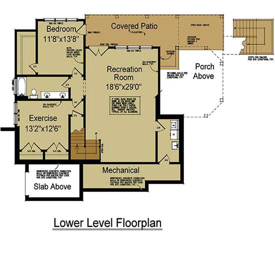 rustic mountain house plan