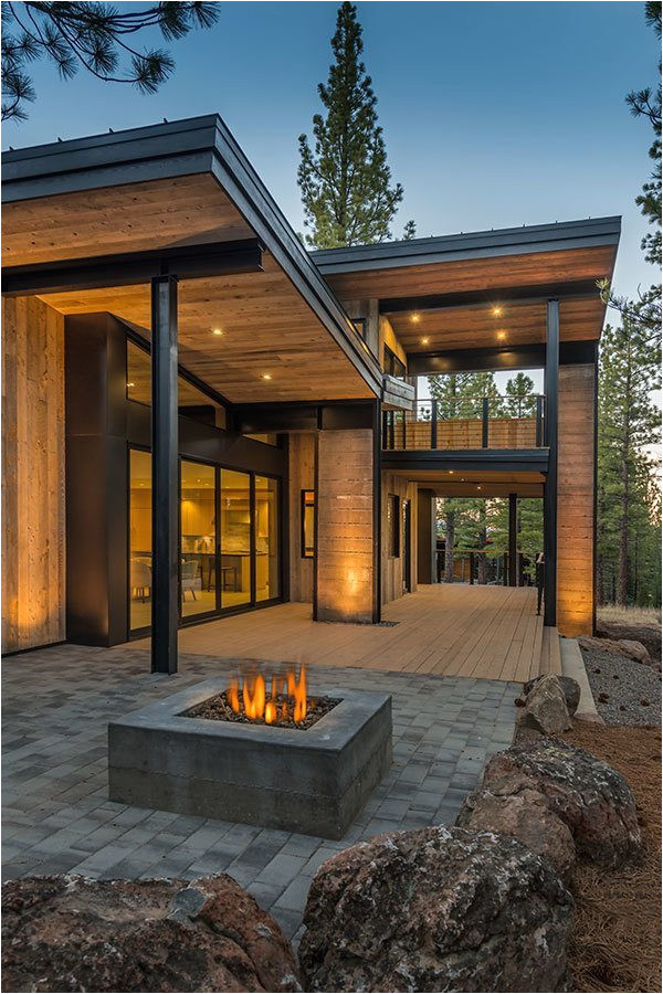 mountain retreat blends rustic modern styling in martis camp