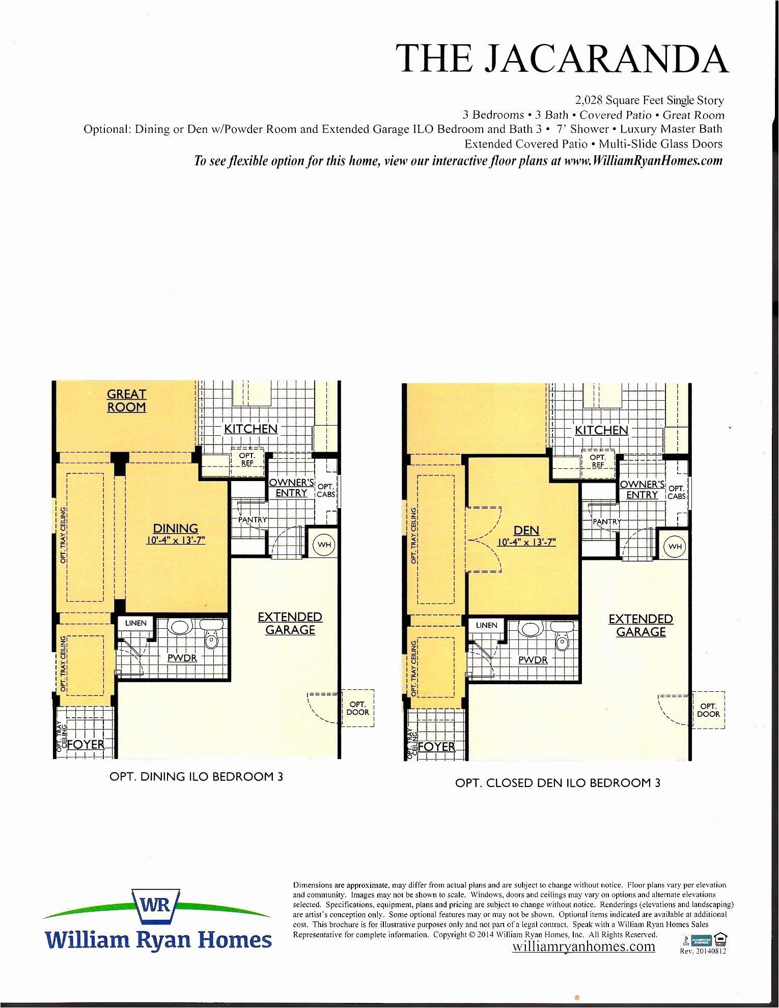 ryan homes rome model floor plan