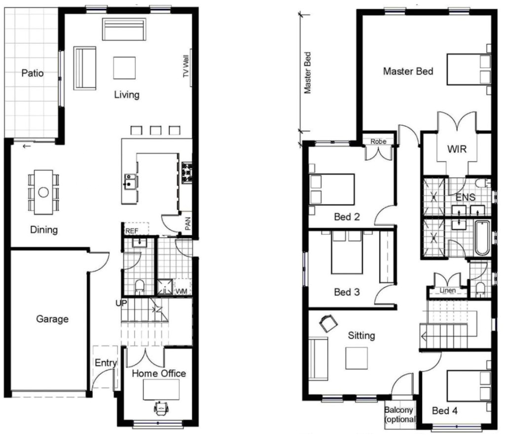 luxury sample floor plans 2 story home