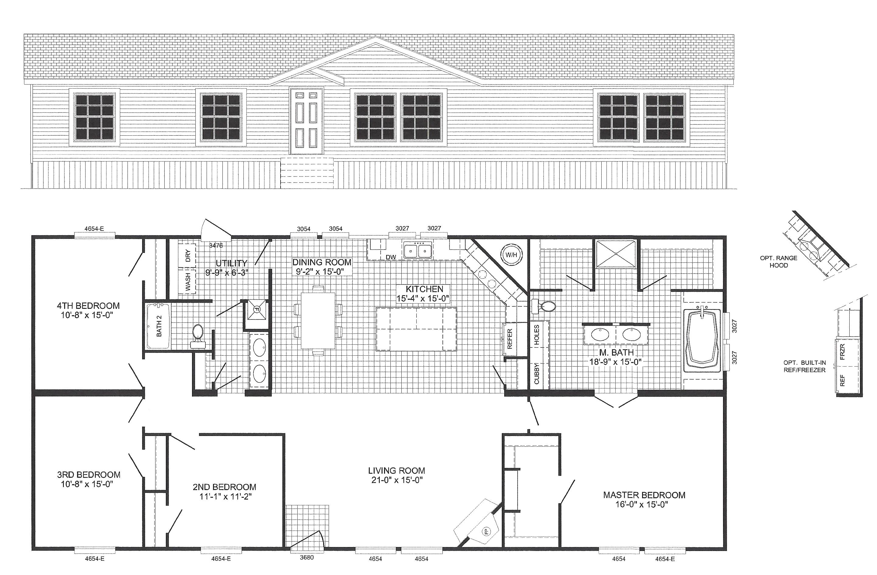 scotbilt homes floor plans new 2 bedroom single wide mobile homes scotbilt home floor plans