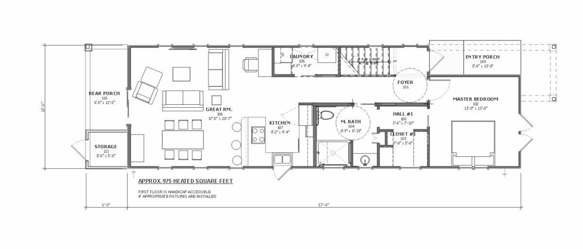 shotgun style house plan sale