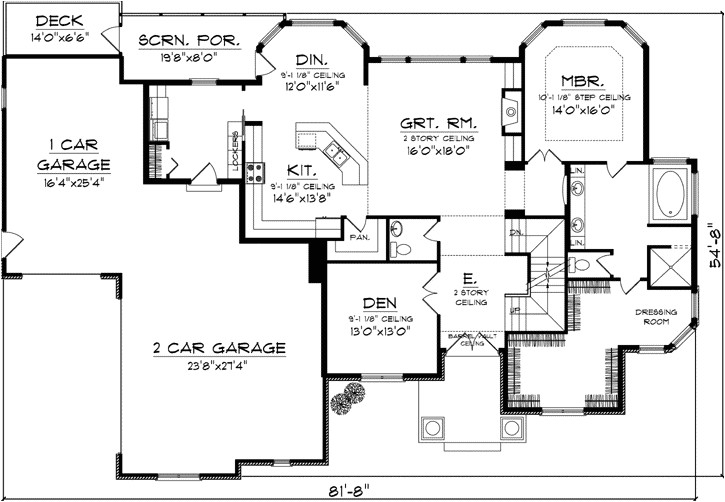 craftsman house plans with side load garage