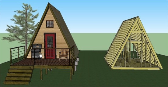 14x14 tiny a frame cabin plans by lamar alexander