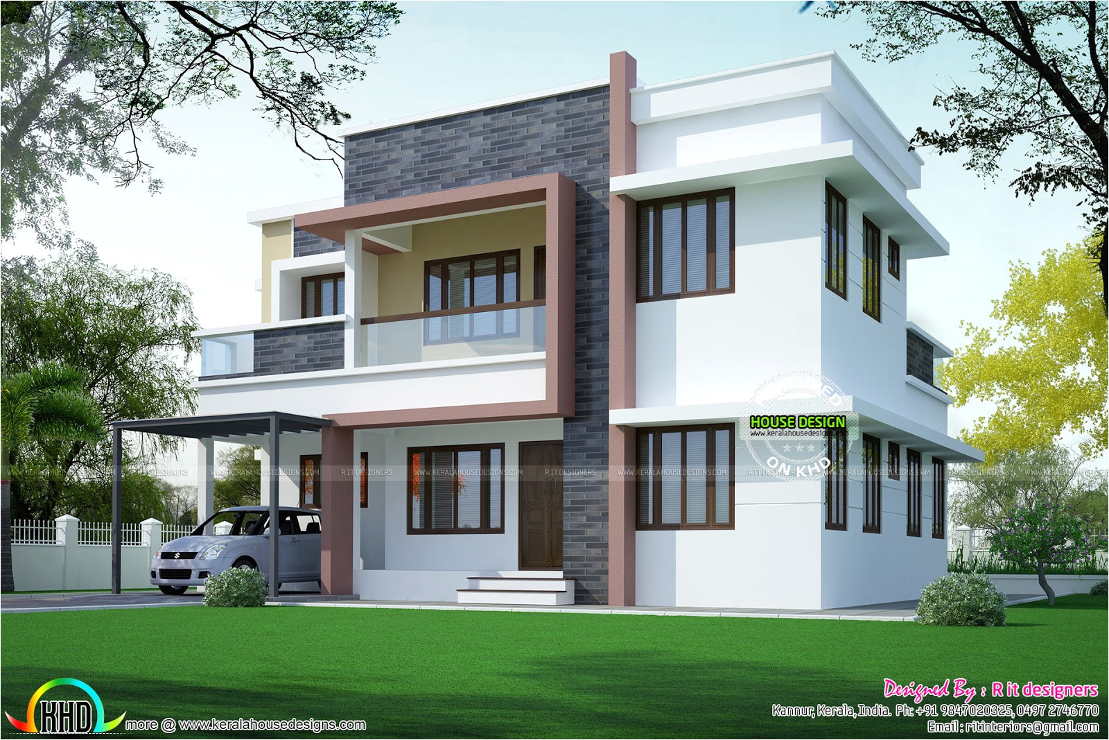 simple home plan in modern style
