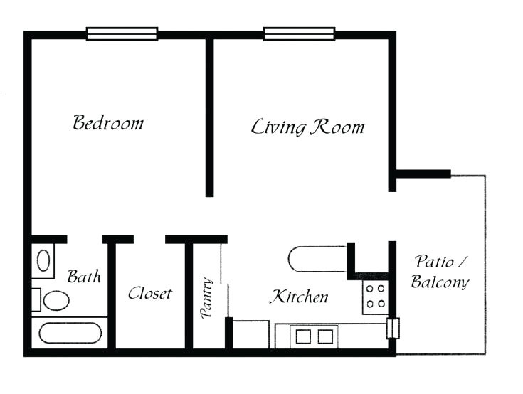 Simple Home Plan One Bedroom One Bath House Plans the Best Simple Floor