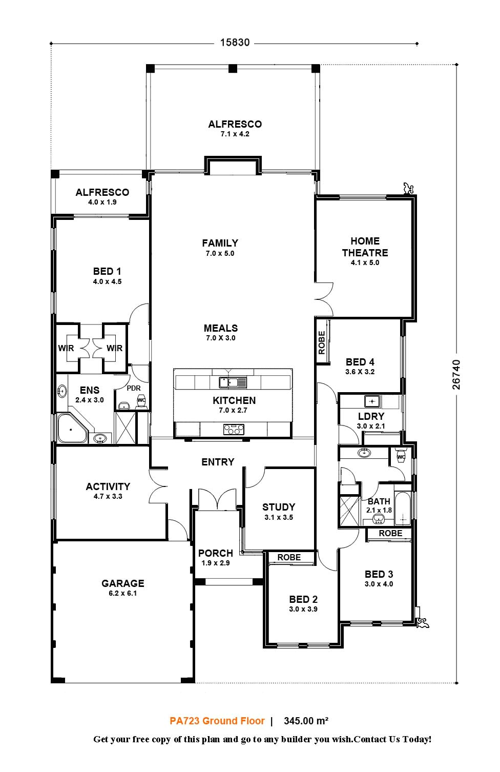 single story small house floor plans