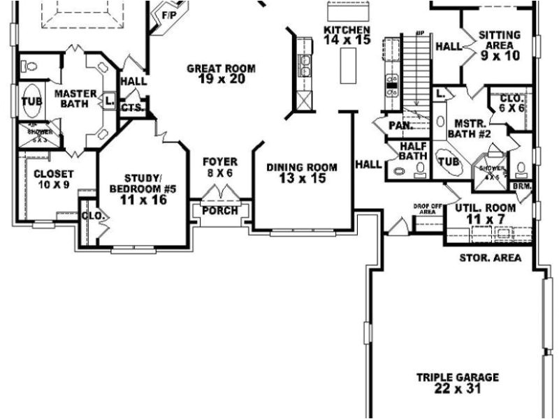 single story house plans with two masters