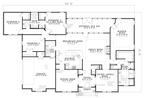 house plan single story mother in law