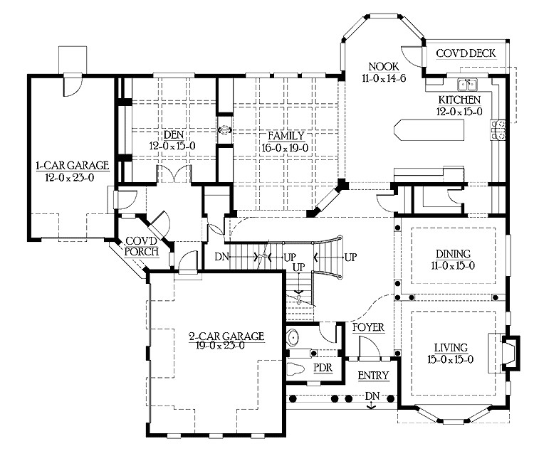 single story house plans with mother in law apartment