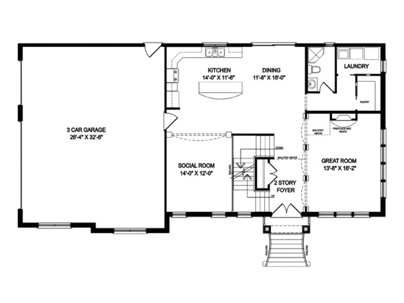 one story houses open floor plans eplans traditional house plan 3