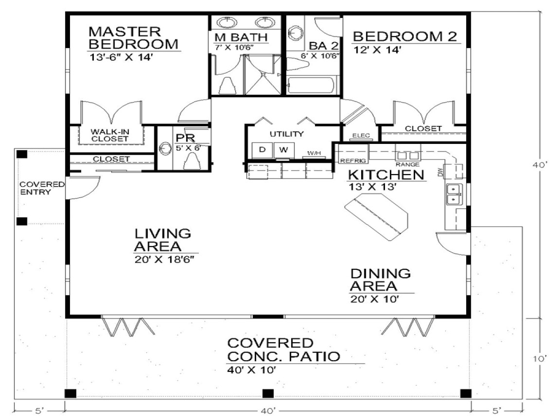 Single Story Open Floor Plan Home Single Story Open Floor Plans Open Floor Plan House