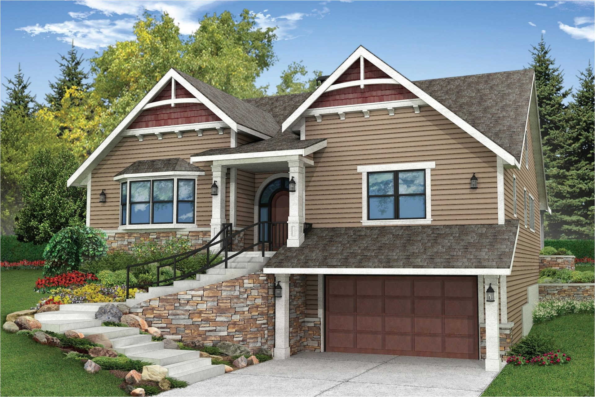 sloped lot house plans walkout basement best of for hillside lots building considerations 20 side sloping