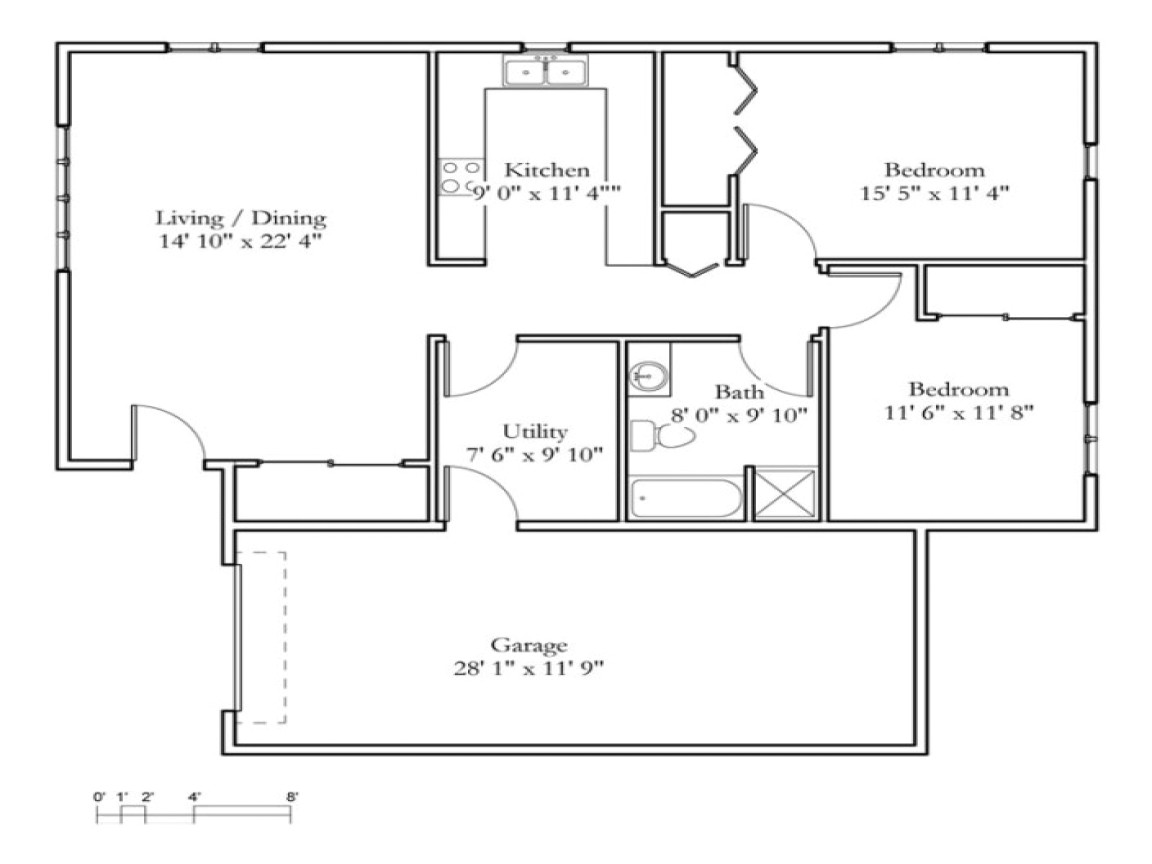 0c71b2d5d2f8041a small 2 bedroom cottage 2 bedroom cottage floor plans