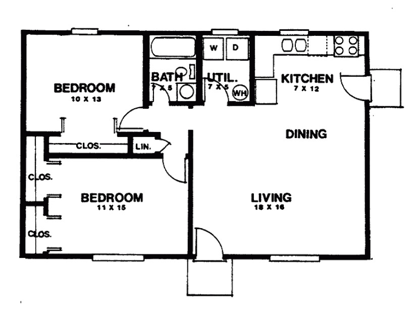 small two bedroom house plans