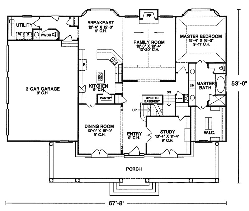 floor plans for country homes