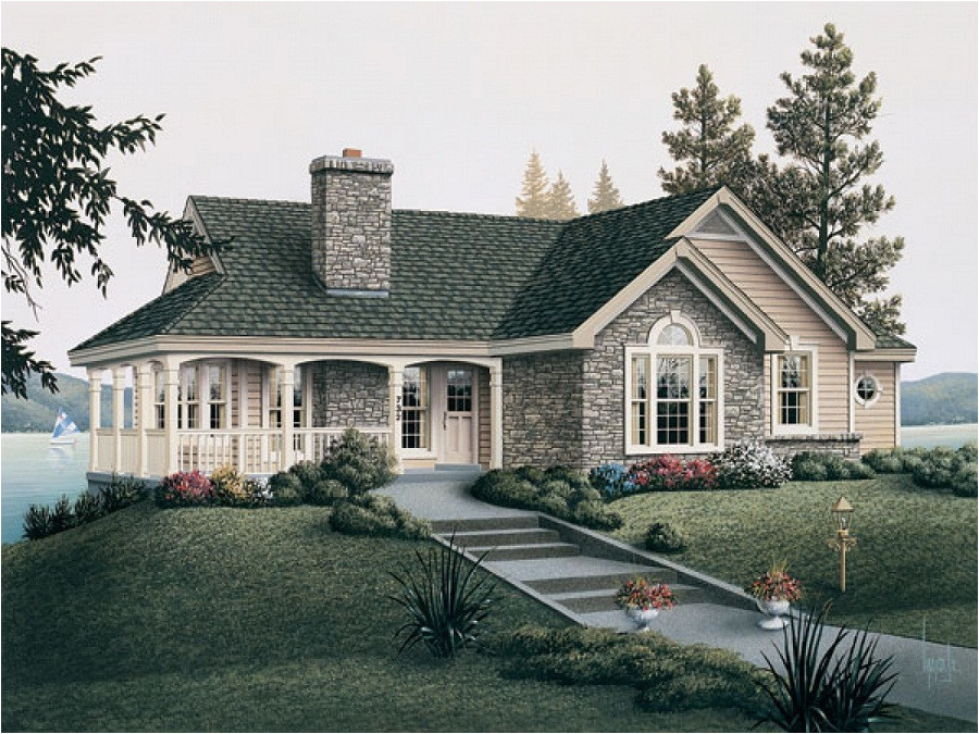 small country house plans with porches brick