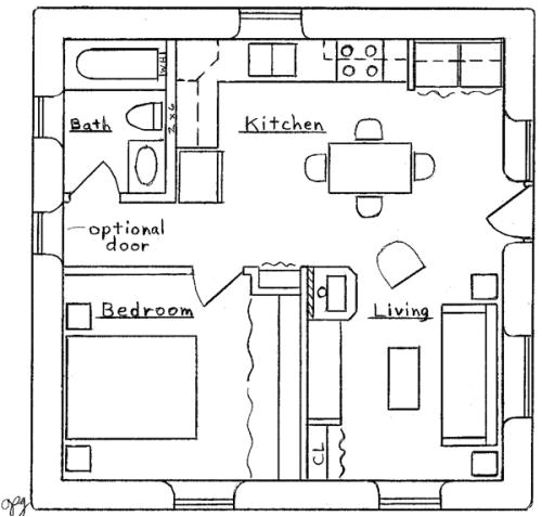 Small Foursquare House Plans 25 X 25 House Plans Pdf Building A Slanted Roof