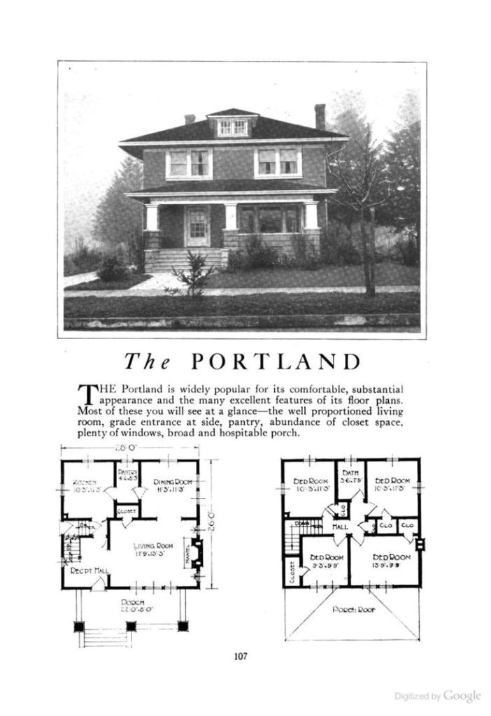 craftsman foursquare house plans