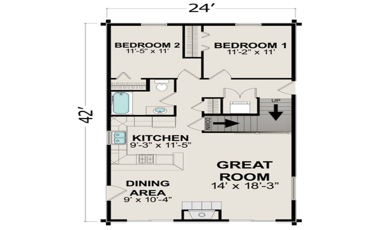 small house plans under 400 sq ft