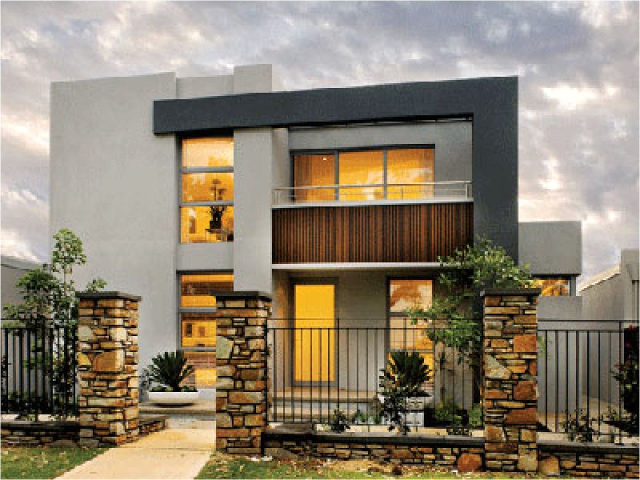 2 storey modern house designs and floor plans tips