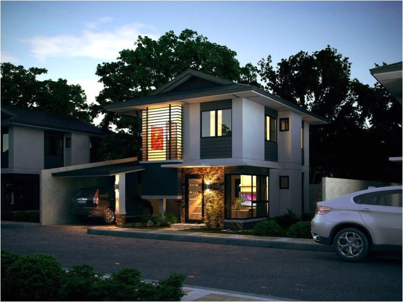 modern minimalist 2 floor house design