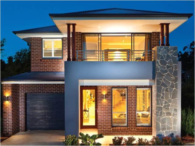 modern minimalist 2 floor house designs