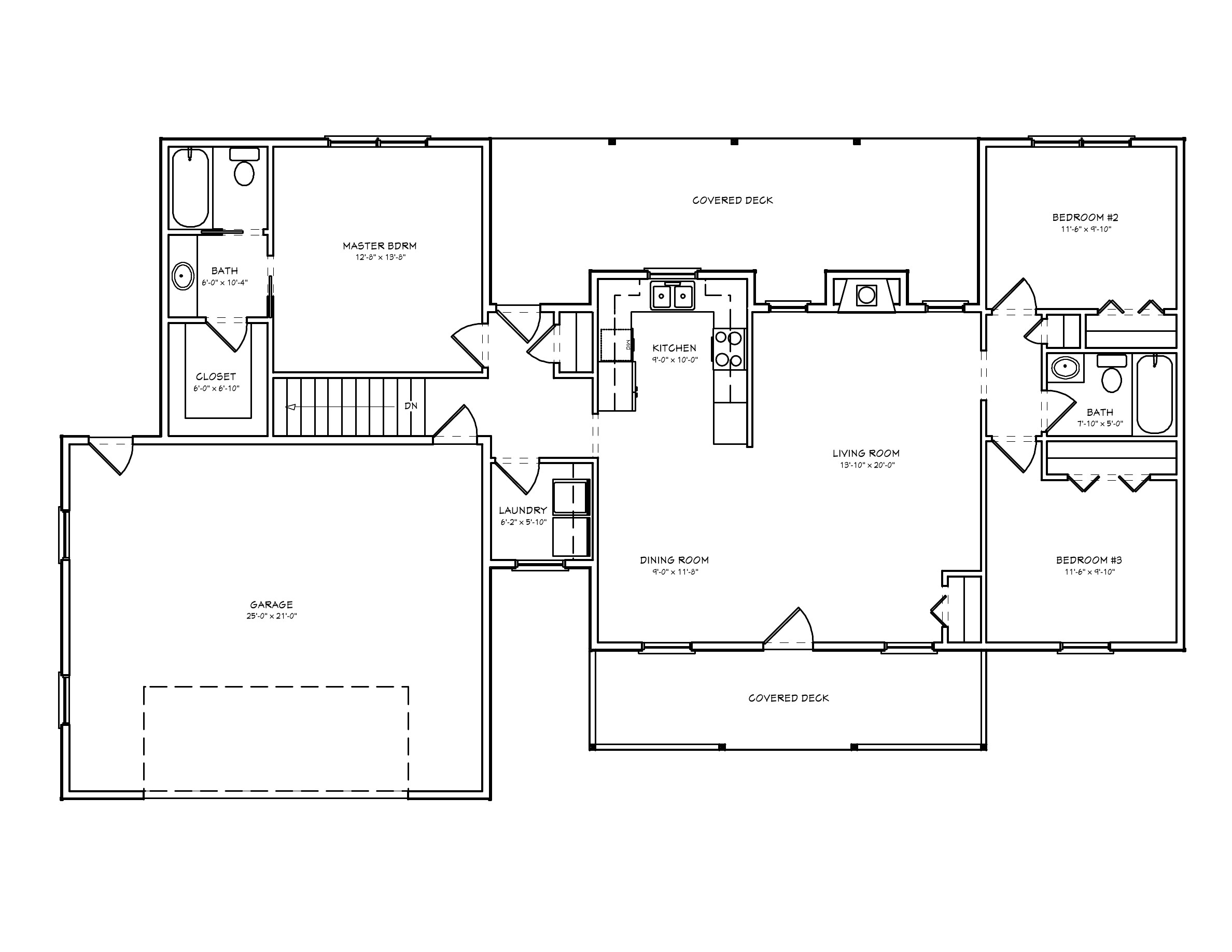 small ranch house plan d67 1360