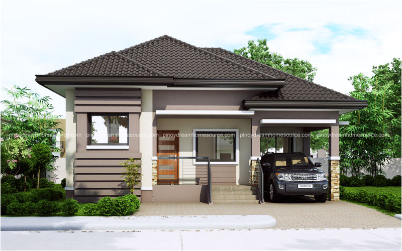 one story small home plan one car garage