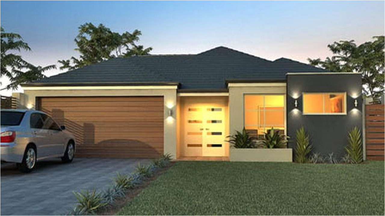 Small Single Story House Plans with Garage Small 1 Story Modern House Plans Modern One Story House