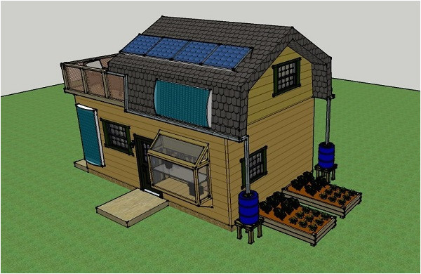 solar off grid small house