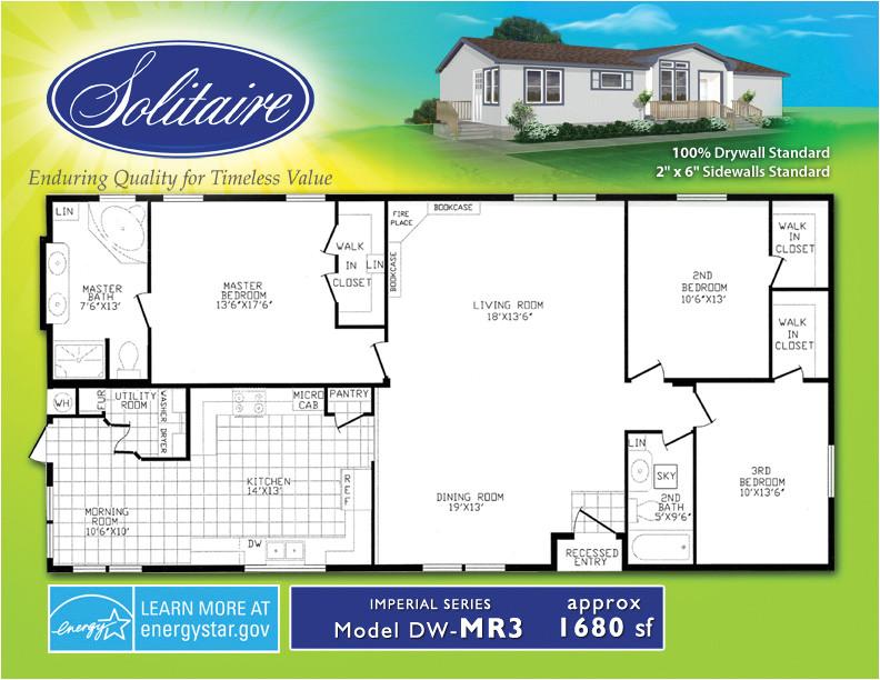 double wide floor plans