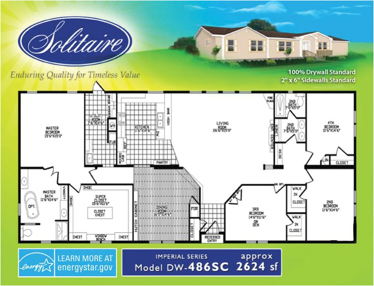 Solitaire Homes Floor Plans solitaire Mobile Home Floor Plans Home Design and Style