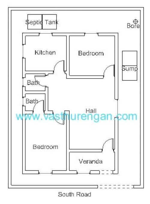 South Facing Home Plans Vastu Plan for south Facing Plot 1 Vasthurengan Com