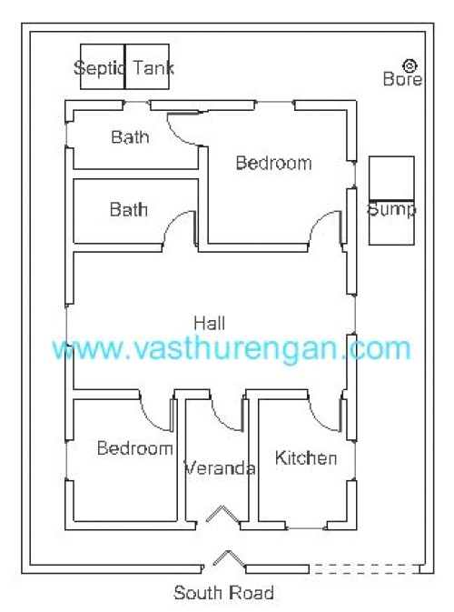 vastu plan for south facing plot 3