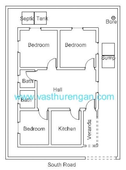 vastu plan for south facing plot 4