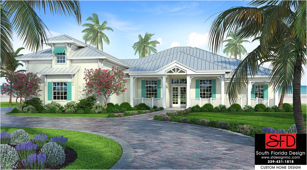 house plan olde florida style 3 bedroom fireplace