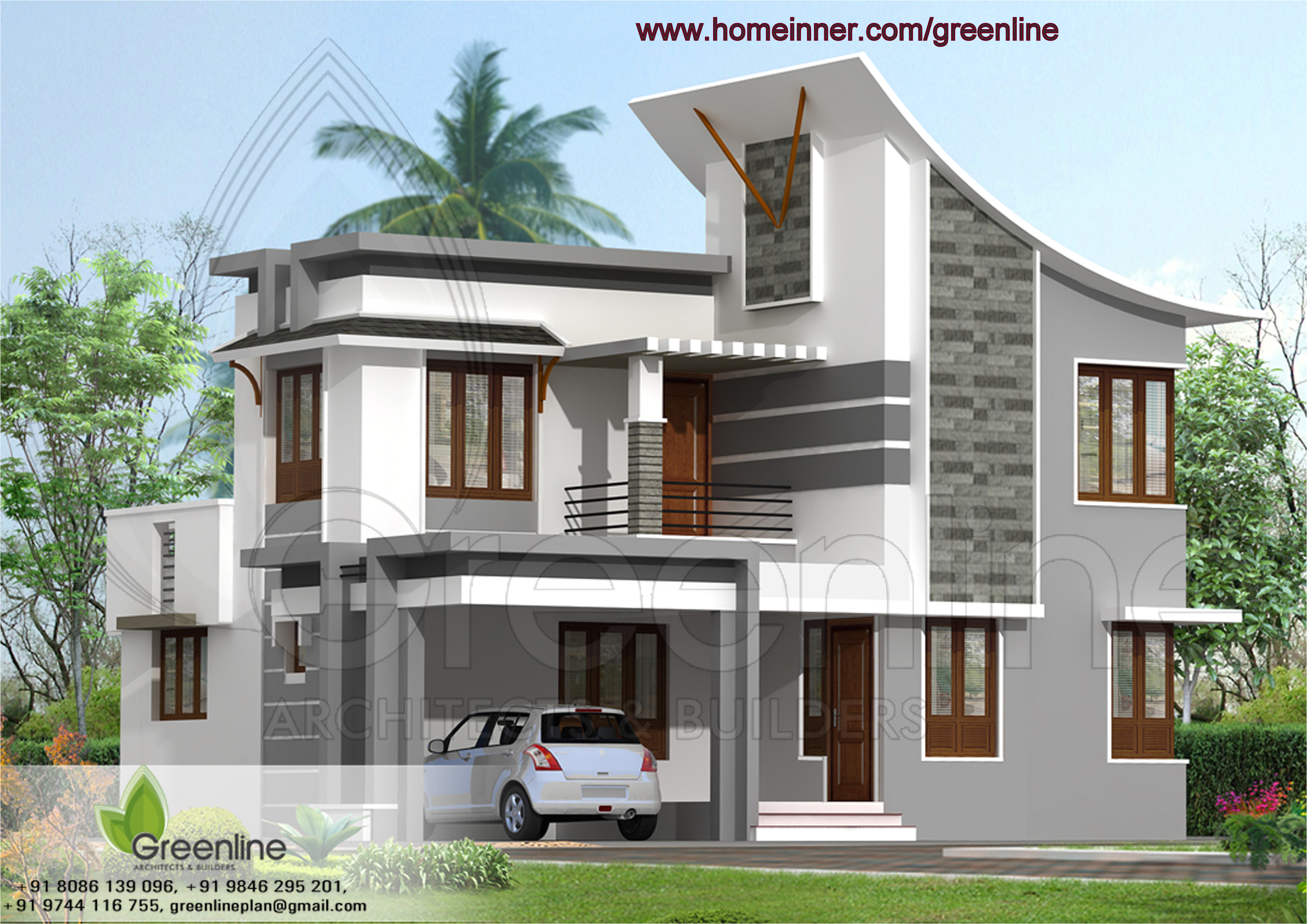 South Indian Home Plans and Designs Modern south Indian House Plans
