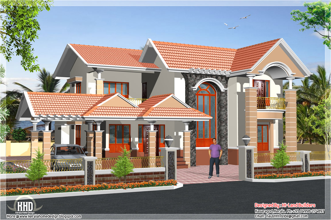 South Indian Home Plans and Designs south Indian 2 Storey House Kerala Home Design and Floor