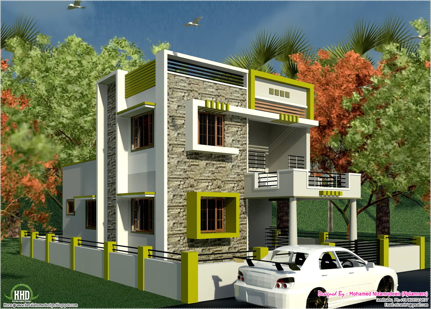 South Indian Home Plans and Designs south Indian Style New Modern 1460 Sq Feet House Design