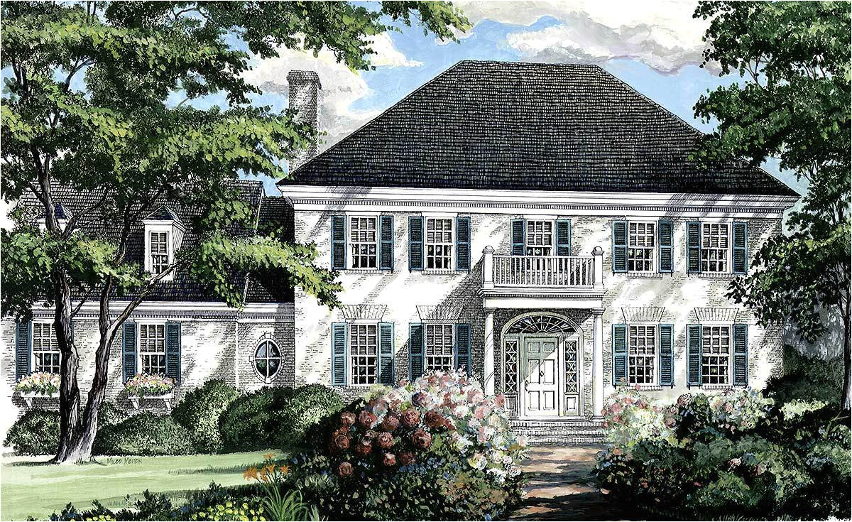 southern colonial home plan 32444wp