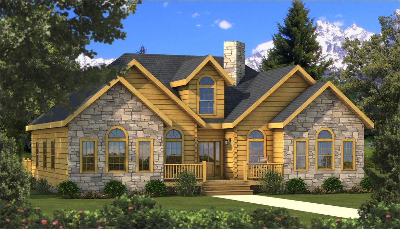 halifax log home plan