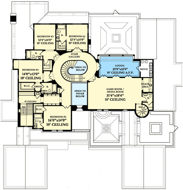 luxury spanish colonial house plan 82012ka