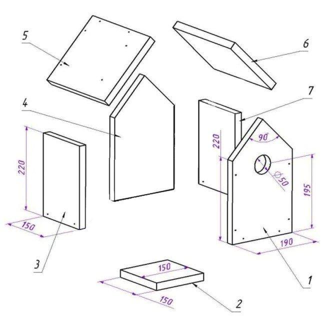 bird house plans for sparrows
