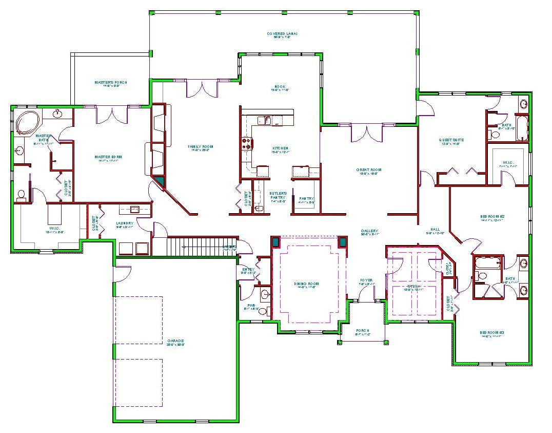 split ranch floor plans
