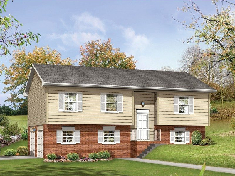split level house plans with walkout basement elegant woodland ii split level home plan 001d 0058