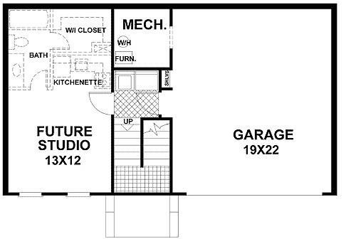 traditional split level home plan 2068ga