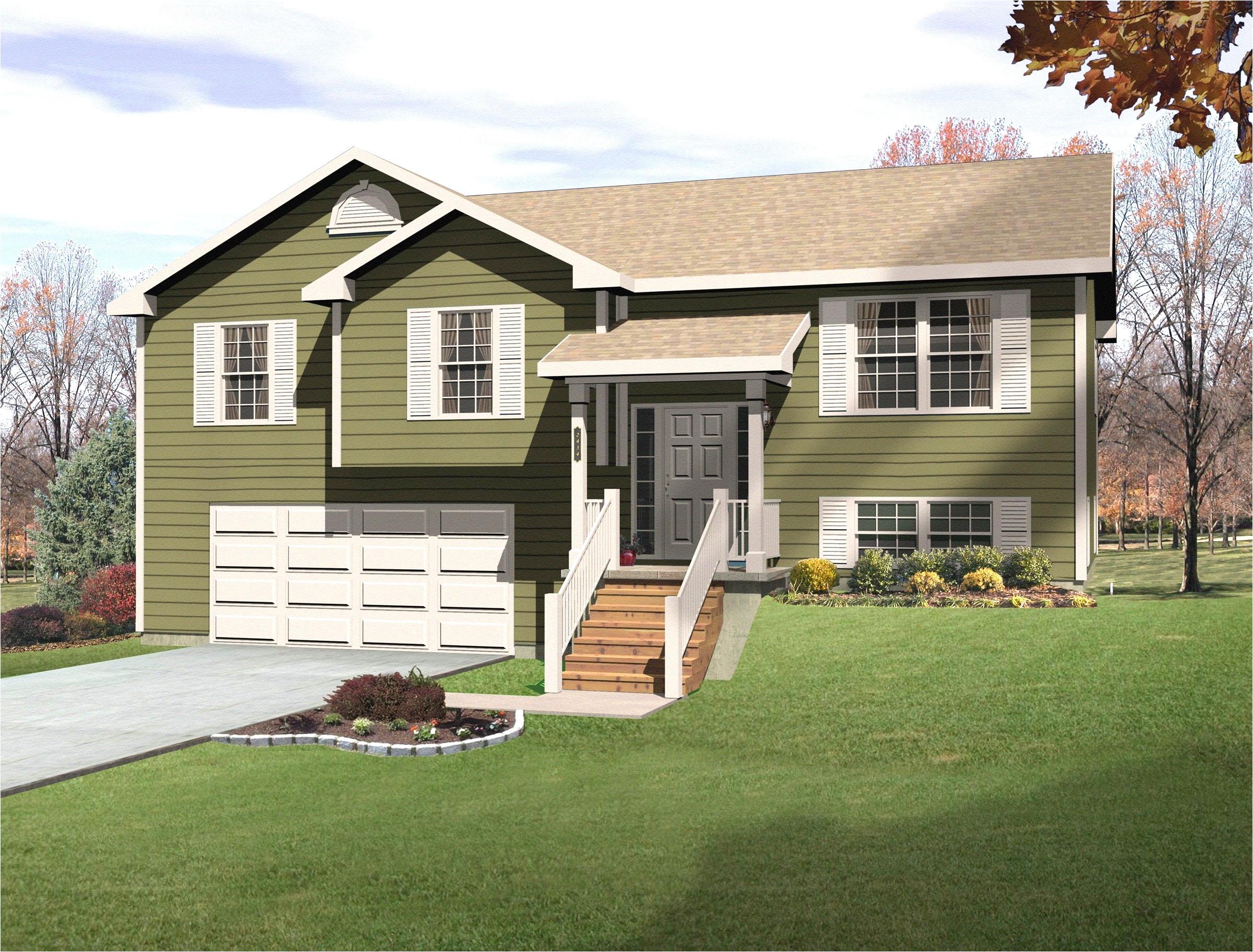 new split level house plans with walkout basement home design split home designs