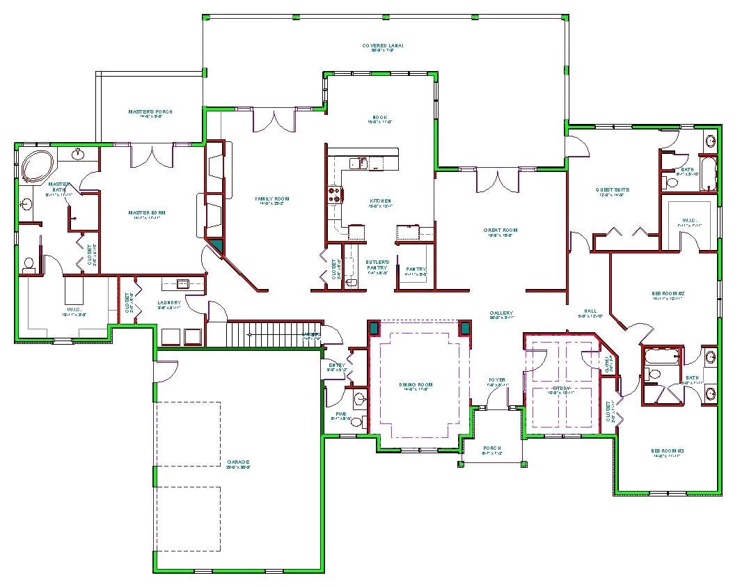 split floor plan homes