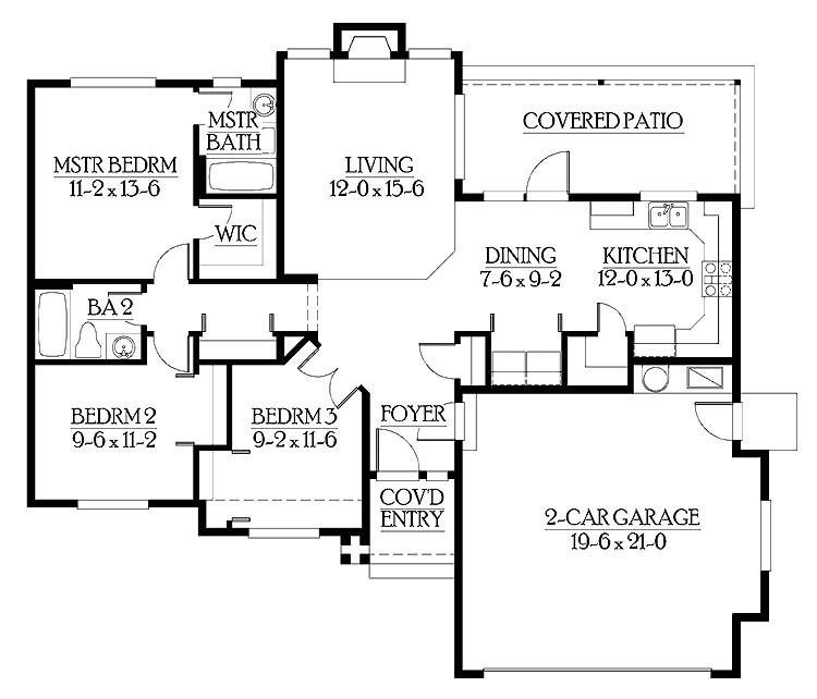 exceptional starter home plans 6 starter home floor plan